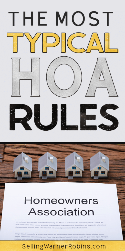 The Most Typical HOA Rules