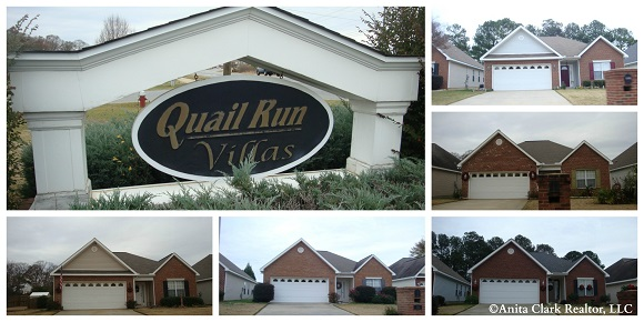 Quail Run Villas Subdivision in Warner Robins GA 31088