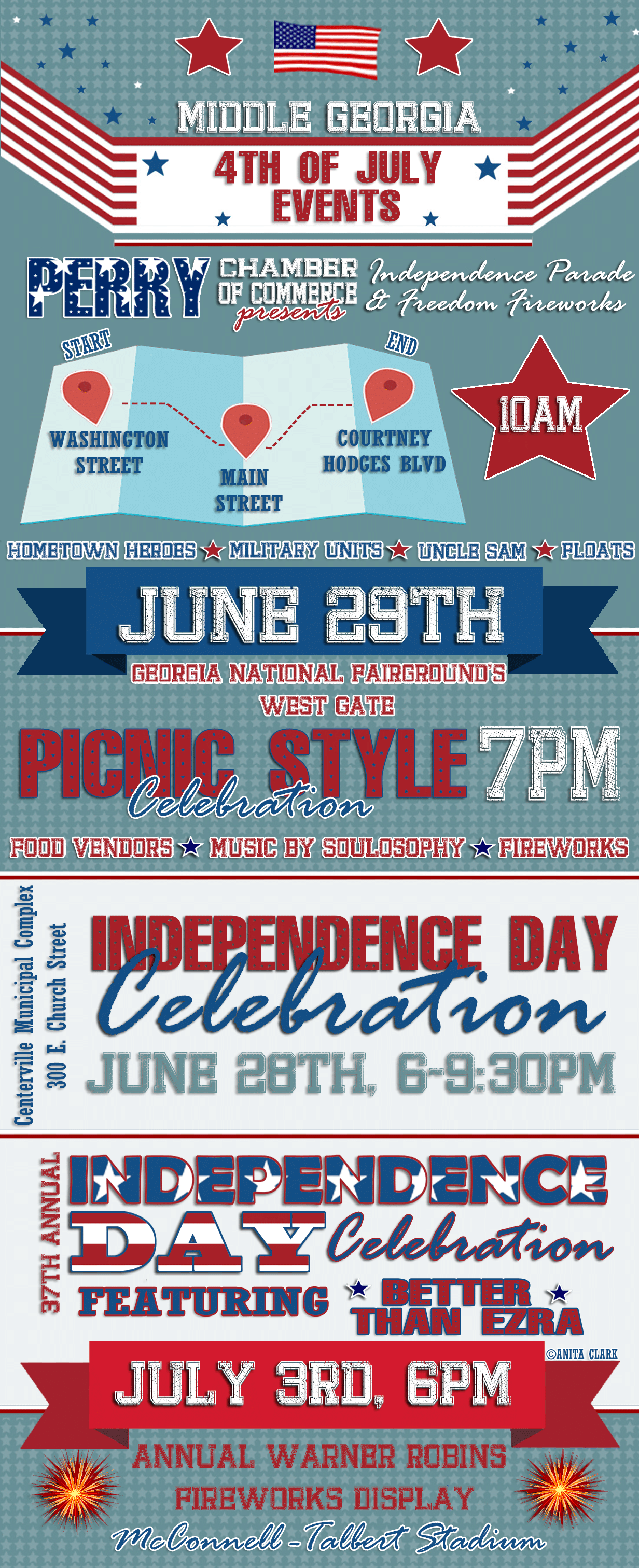 Warner Robins 4th of July Events 2019
