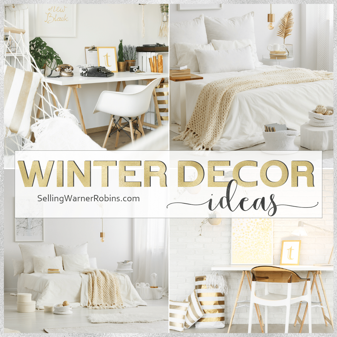 Are you looking for ways to decorate this season? Look no further with my top ten ideas to transform your home decor this winter. #realestate #homestaging #winterdecor #winterdecorating