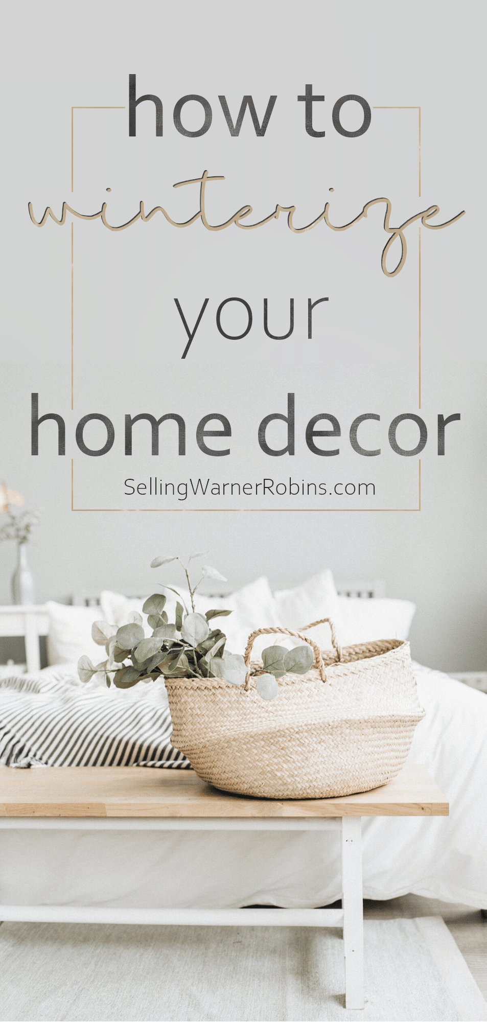 Are you wondering how you can transition your home's decor from Christmas to winter? Check out my ten ideas on how to winterize your home's decor this season. #realestate #homestaging #winterdecor #winterdecorating